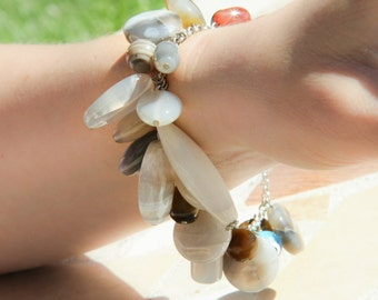 Chained Agate Dangle Bracelet