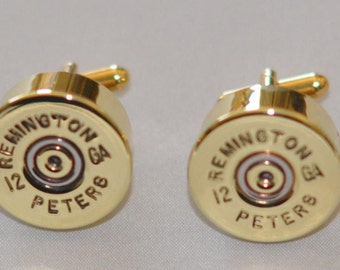 Rare Vintage  Remington 12 Gauge Shotgun Shell Bullet Cufflinks Custom Made in the USA