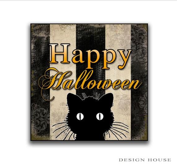Happy Halloween Tips On Home Decoration 1: Happy Halloween Wooden Sign 12x12x3/4