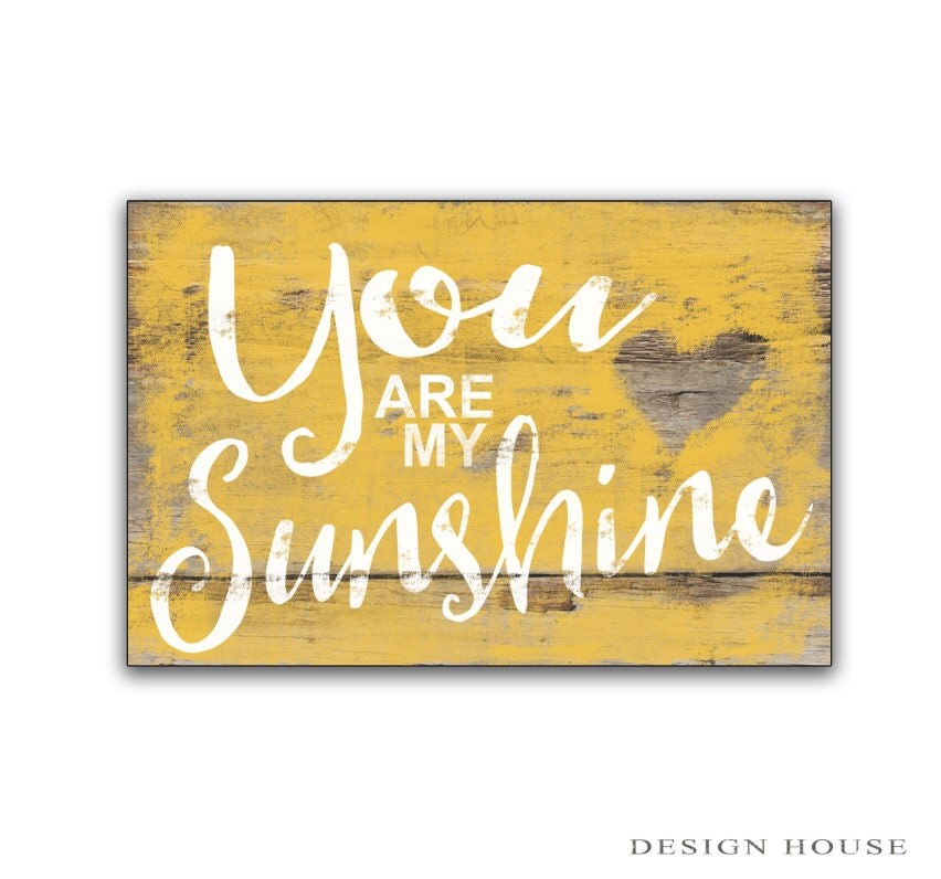 You are my sunshine wooden sign children 39 s room decor for Room decor signs