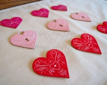 Adhesive die-cut large heart embellishments, heart sticker, key to my heart, die cut shapes, heart keychain, heart keyring