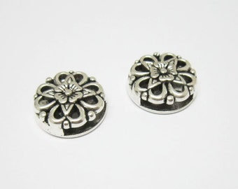 10pcs Hollow bloomy flower slider 10x2mm Flat leather findings