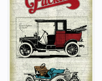 Vintage Car Print, Car Print, Antique Car Print, Vintage Car Poster, Vintage Car, Vintage Packard Car Print, Vintage Packard Poster
