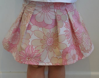Girls Size 2 vintage fabric skirt, brand new