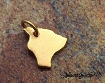 Hawaii Charm, Hawaii Pendant, Hawaii Stamping Blank, Gold Hawaii Stamping Blank, TINY