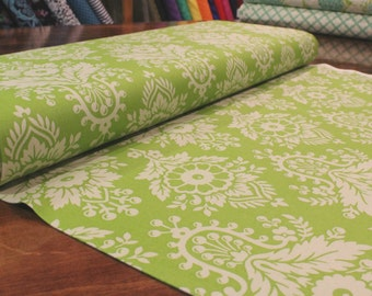 Up Parasol Fabric, Heather Bailey, Free Spirit Fabrics, Lulu in Green, Green and Grey Fabric, PWHB046