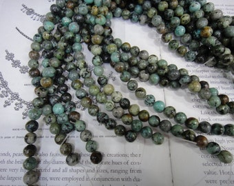 8mm natural Africa turquoise round beads, 15.5 inch