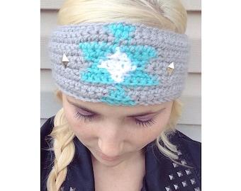 Crochet aztec earwarmer tribal headband
