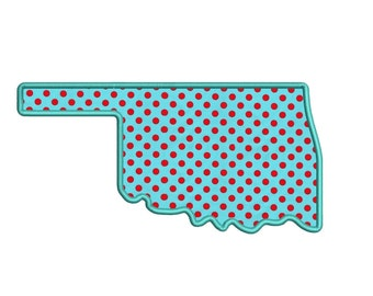 Oklahoma Appliqué Machine Embroidery Digitized State Design Pattern