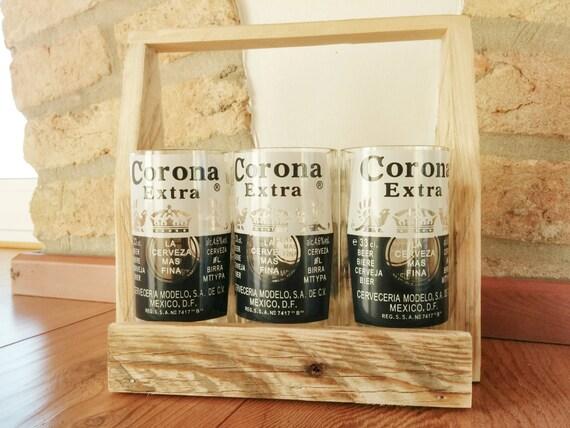 Articoli simili a set di sei bicchieri fatti a mano - Porta bicchieri birra ...