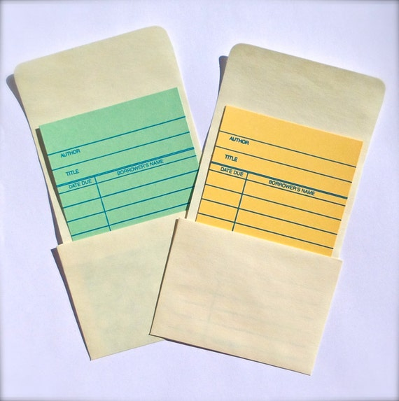 manila high back library card book pockets set of 50 great