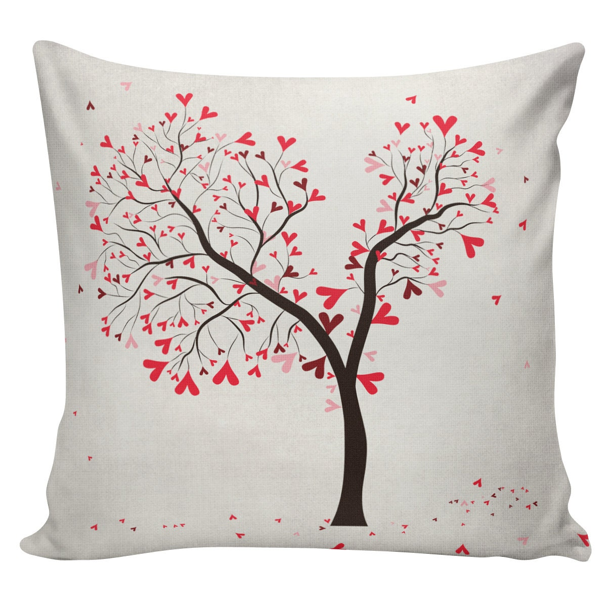 Love Pillow Cover Cotton Canvas Throw Pillow 18 inch square