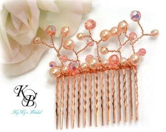Copper Hair Comb, Wedding Hair Accessories, Bridal Hair Accessories, Bridal Hair Comb, Bridesmaid Hair Comb, Bridesmaid Hair Accessories