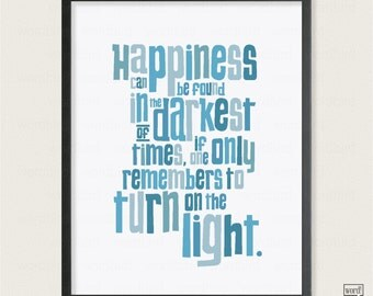 Harry Potter Print, Albus Dumbledore Quote, Harry Potter Poster, Wall Decor for Boys Girls Room