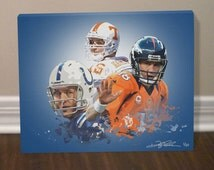 Peyton Manning Denver Broncos Canvas Art Print - FREE SHIPPING within U.S.!!