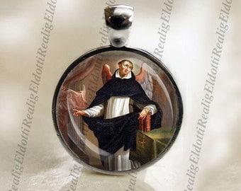 St. Vincent Ferrer Catholic Christian Medal Pendant Patron Saint Religious Jewelry