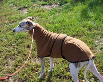 Greyhound thick Polartec fleece coat double Velour finish made to order Toast color