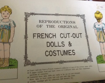 Vintage French Cut Out Paper Dolls