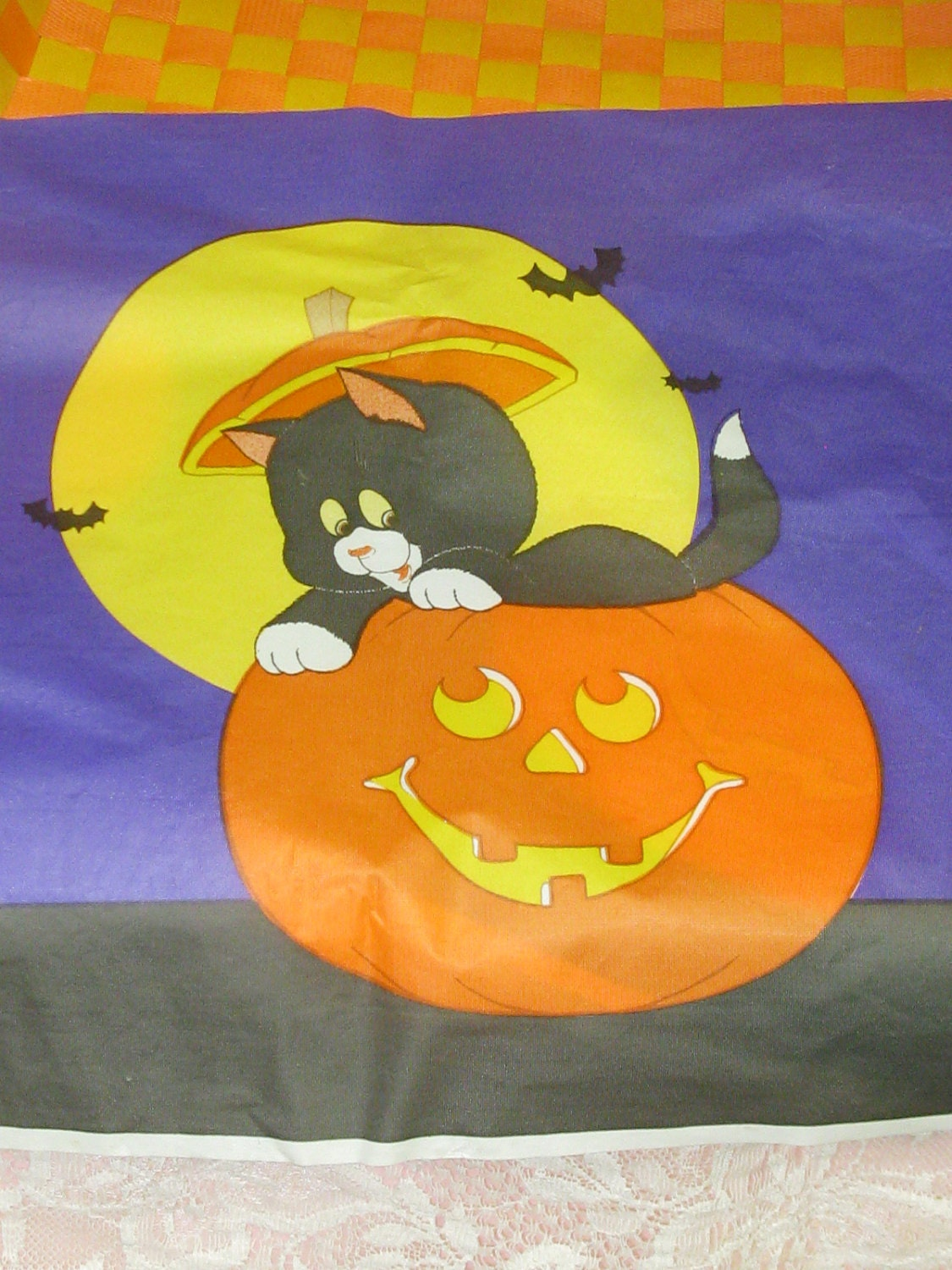 Halloween Decorations-Black Cat-Moon-Recycled Craft Supplies ...