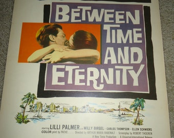 Original 1956 Between Time And Eternity Window Card Movie Poster Lilli Palmer