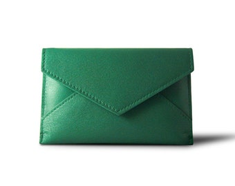 The Postie - Leather Card Holder, Coin Purse & More - Green