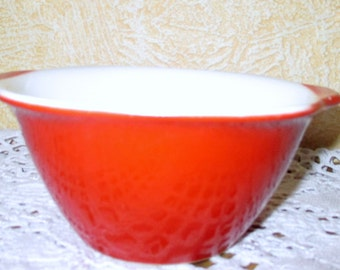 Vintage Retro Pagnossin treviso Italian Special production Red Bowl Marked Very Rare