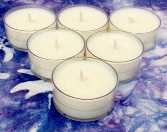 6 scented Soy tealight candles