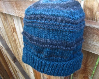 Adult knitted hat, Striped hat