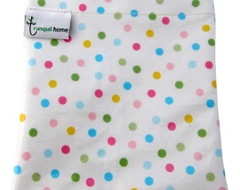 Sandwich Bag Reusable Food Grade Snack/Food Pouch Polka Dots