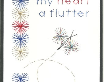 Butterfly Flutters Valentines Card