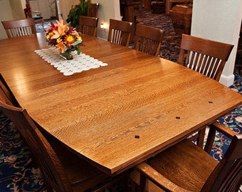 Oak dining table Etsy