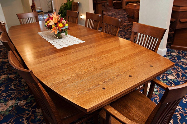 Arts And Crafts Dining Table And Chairs: Arts And Crafts Mission Oak Dining Table Chairs Sold