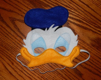 Donald Duck Felt Mask - Costume Accessory - Any size available