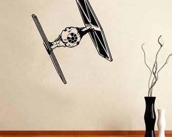 Vinyl Wall Art Decal Star Wars Empire Tie Fighter!