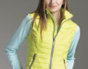 SaLe -Monogram Charles River Women's Radius Quilted Vest Fall Style Greek College