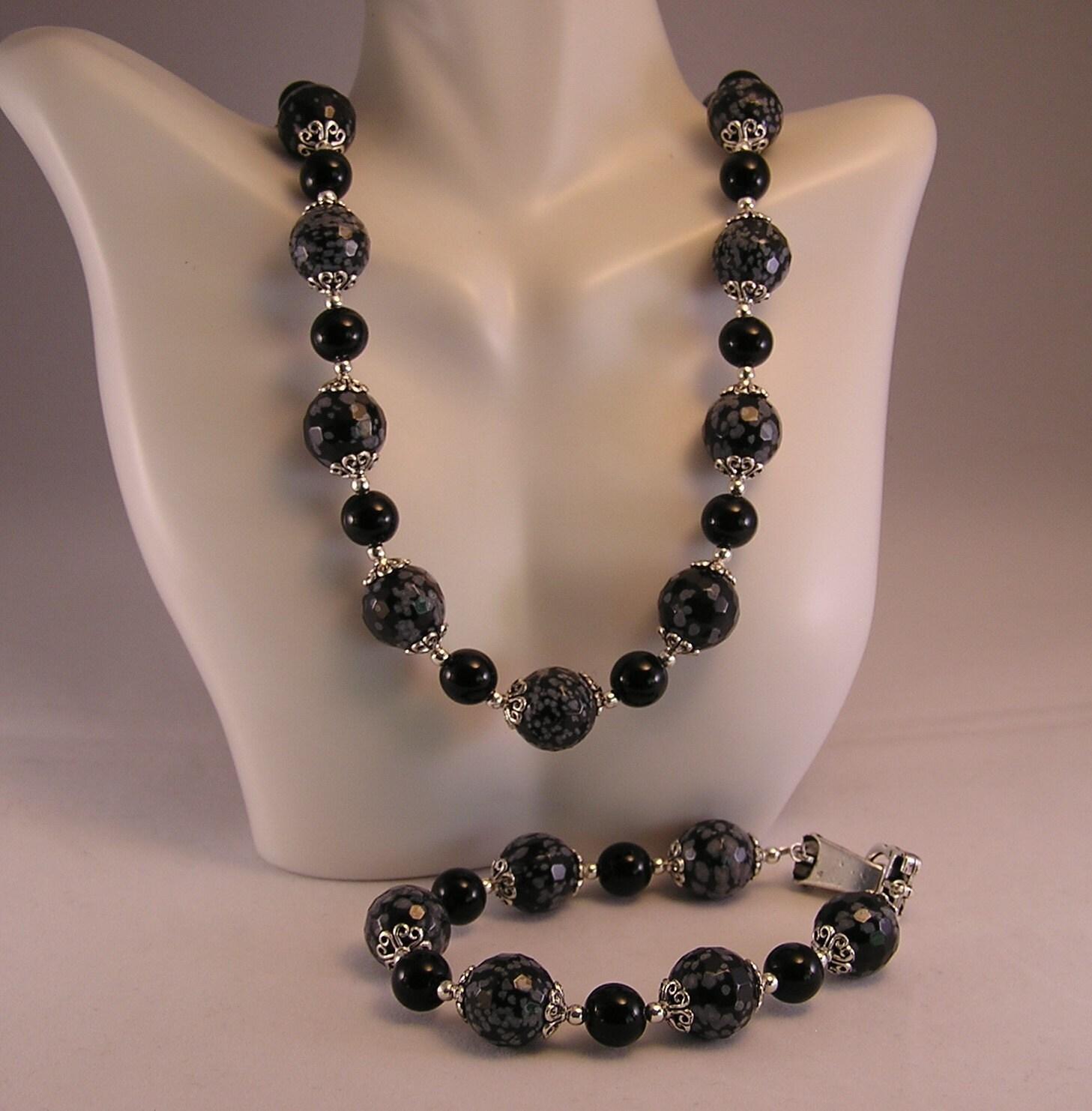 Obsidian Jewelry Set S...