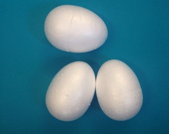 Polystyrene Eggs 78mm set of 10