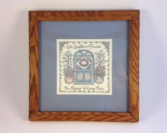Framed Calligraphy: Love, Laughter and Friends...