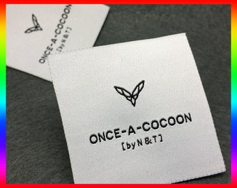 600 Sew-In Woven Label-Up to 8 Color, HD woven clothing labels, clothing labels, Woven labels
