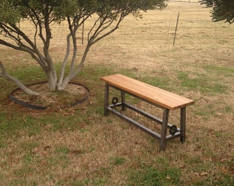 Hand Made Rustic Style Bench