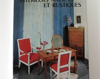 FRENCH VINTAGE BOOK / Interior decoration / Interior design / French furniture / Home decor / Old and rustic french style