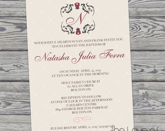 Baby Baptism - Christening - Blessing Invitation