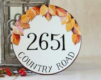 House number plaque / Outdoor house numbers/ Address sign House numbers/ Hand painted house number/ House sign