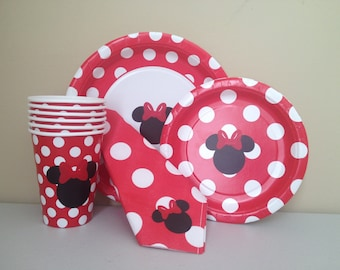 Minnie Mouse Party Pack Cups/Plates/Napkins