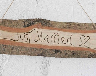 customizable wood sign - wood burned - rustic wood sign,sign, wedding,rustic, naturally aged tree