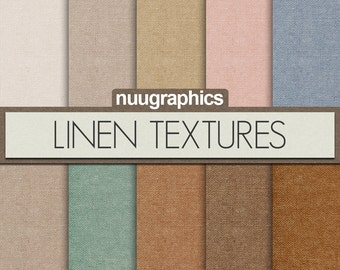 """Linen digital paper: """"LINEN TEXTURES"""" with realistic digital linen paper in neutral colors, earth, grey, beige, tan, brown, blue, red"""