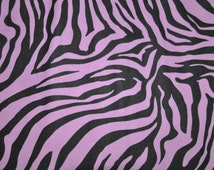 Fabric by the Yard - Zebra Purple Flannel