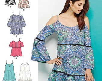 Misses' Mini Dress or Tunics and Top Simplicity Pattern 1161