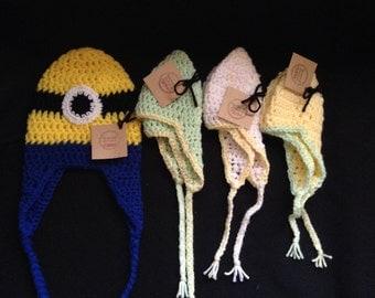 Baby ear flap hats 3-6mos **Ready to Ship!**