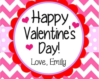 Personalized Valentine's Day PRINTABLE Favor Tag